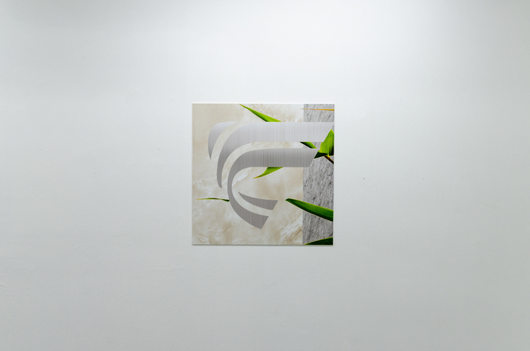 Marilyn Schneider,  Future/Classic  , 2014, digitally printed polymeric vinyl with gloss lamination, PVC display board, 60 x 60cm.
