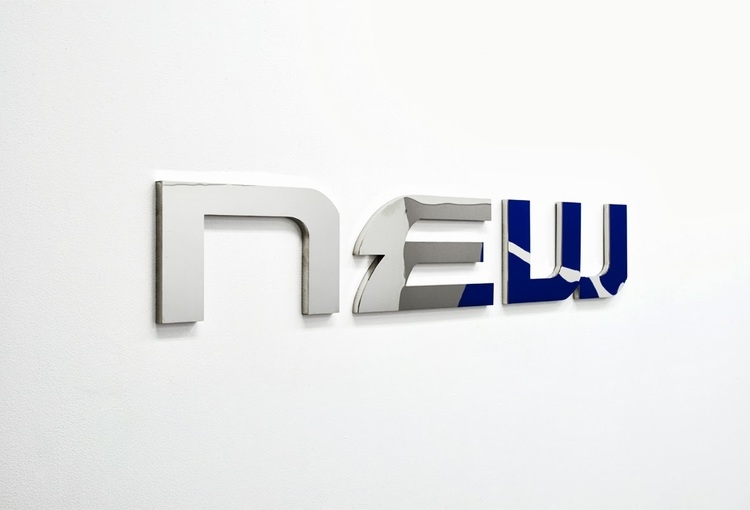 New World  , 2013, polished stainless steel, 102 x 17cm.