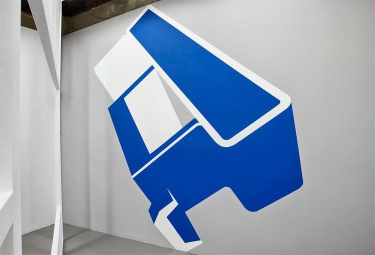 Display booth  , 2013, acrylic paint, 317 x 403 x 267cm.