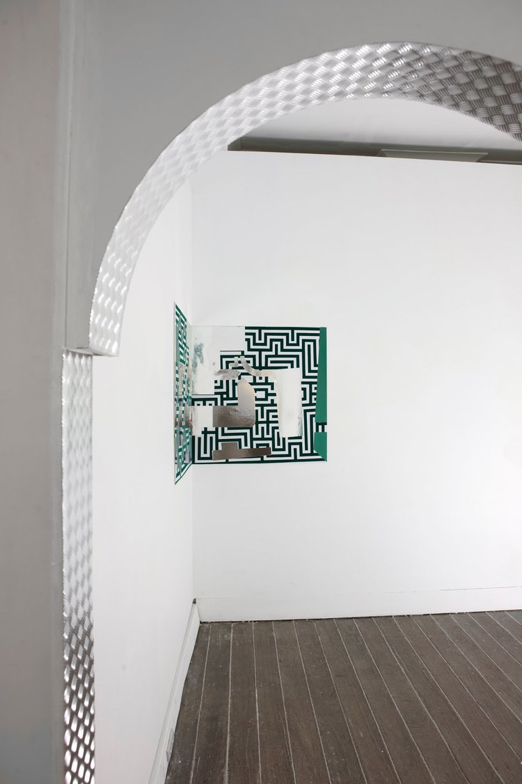 Archway  (detail), 2011, foam core and decorative contact adhesive, dimensions variable.