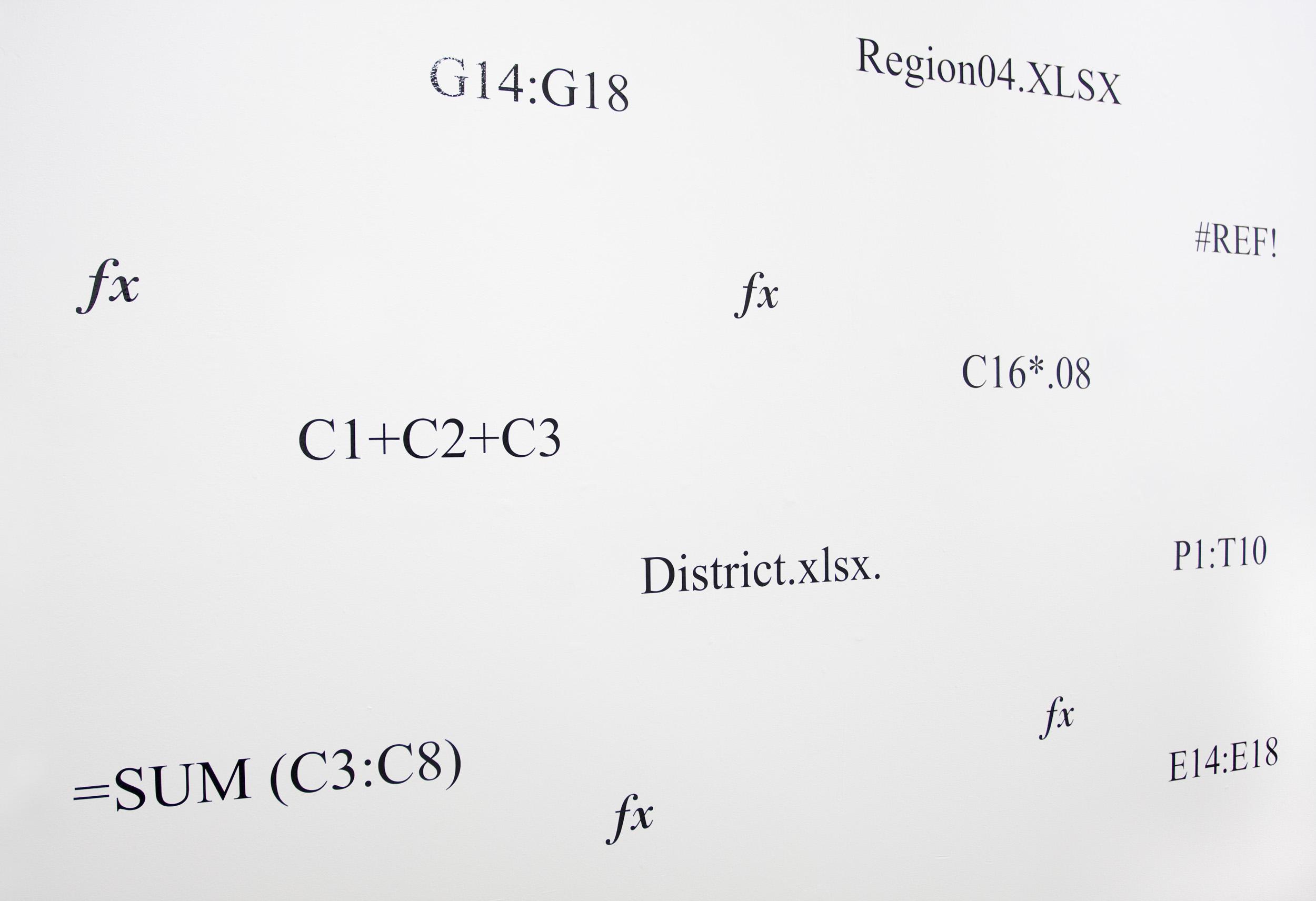 Beyond Product  , 2016, laser cut vinyl letters, dimensions variable.