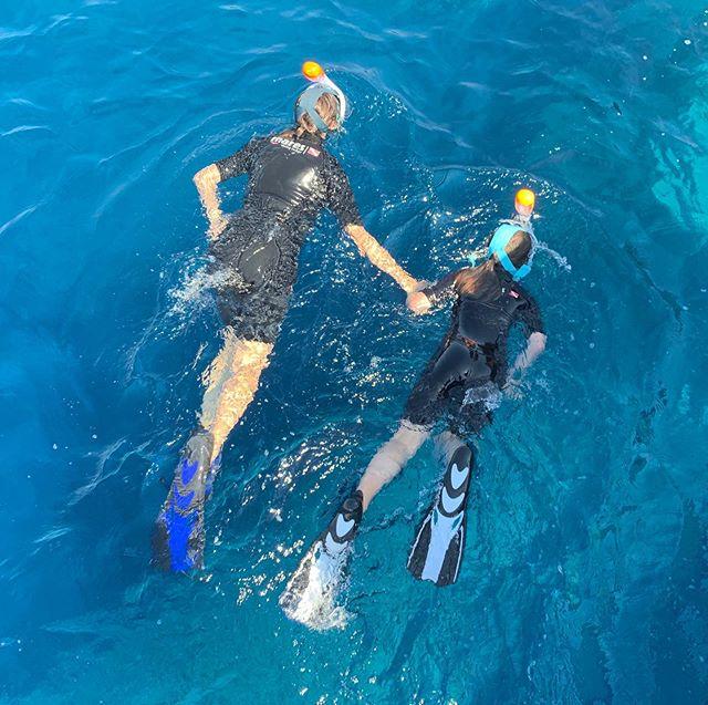 A l'eau rando #snorkeling #rando #caporosso #vacancesenfamille #palmes #fun #cargese #bonheurenfamille #aleaurando