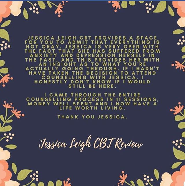 JLCBT review from one of our discharged clients