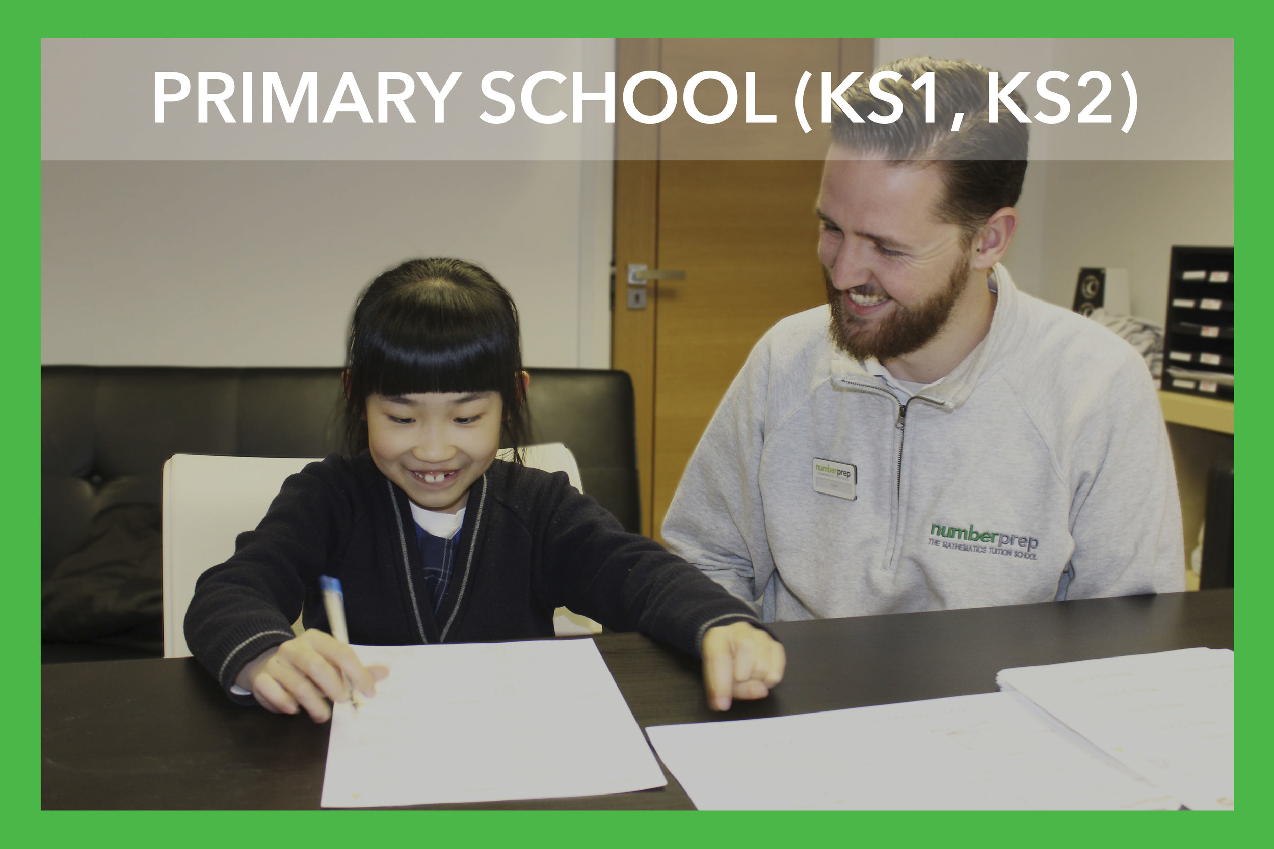 At Primary school your child will experience Maths in a classroom format for the first time, and it will be at this stage that they begin to decide whether they enjoy the subject. At Numberprep our tutors hands on approach helps our students to build confidence and intrigue whilst closely following the National Curriculum. Creative lesson plans and unique hands on activities ensure our students fully understand key mathematical concepts in an engaging and enjoyable environment helping to build the foundations for success in the subject.   Topics - Numbers, Shape, Measures, Handling Data