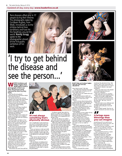 This article appeared in the Evening Leader and highlights the importance of Rare Disease Day