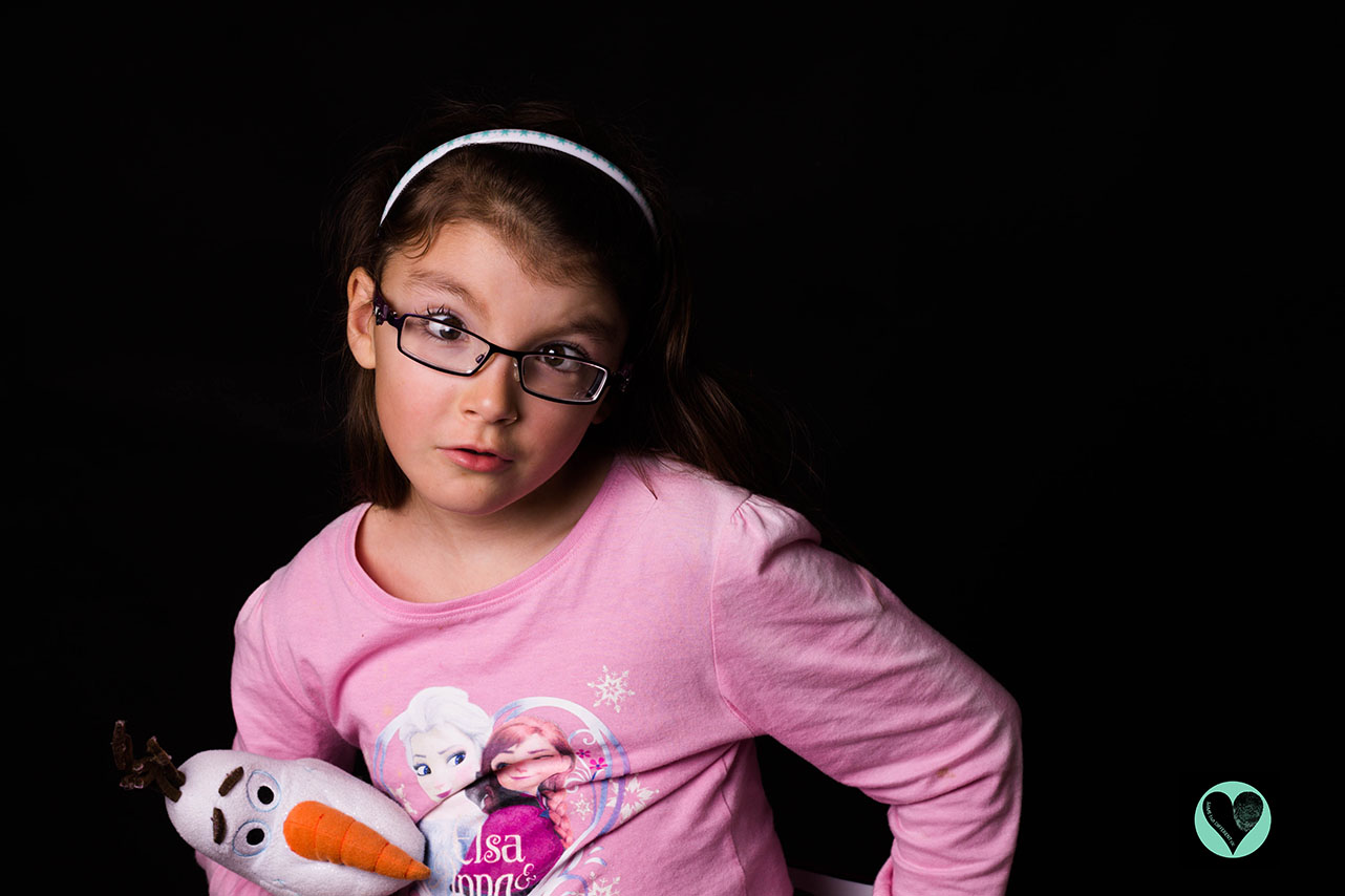 Girl with Moebius Syndrome