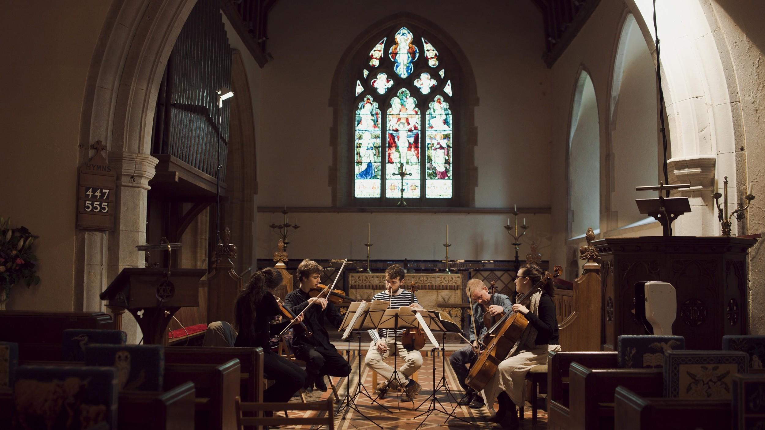 Beethoven Storm Quintet.Catherine Manson, Myself, Timothy Ridout, Thomas Hankey and Hannah Sloane.