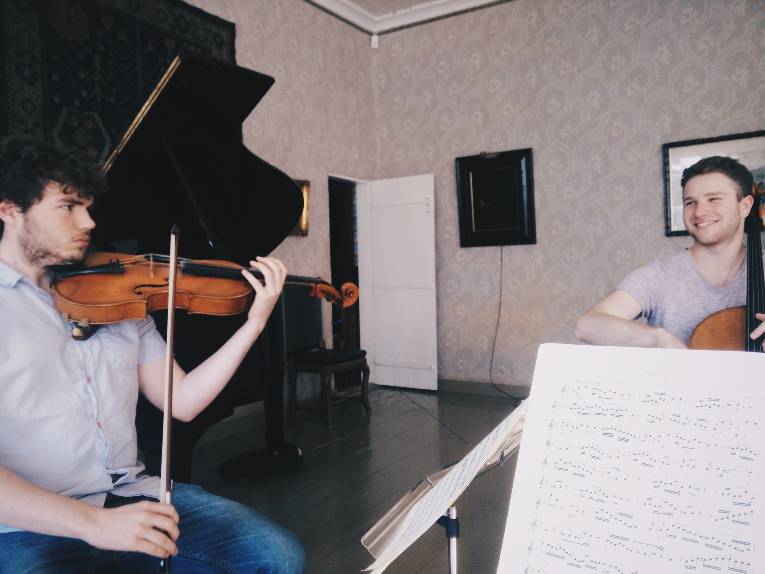 Rehearsing Schubert String Trio D.581