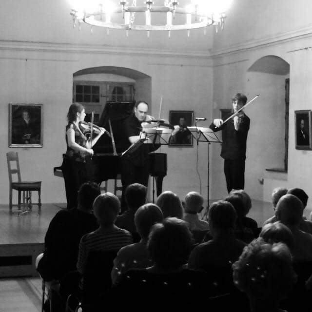 Mathilde Milwidsky, Mark Holloway and myself performing Frank Bridge's Rhapsody Trio in Brigg.