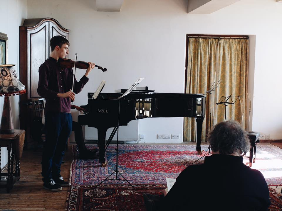 Session with András Keller and pianist Emese Mali.