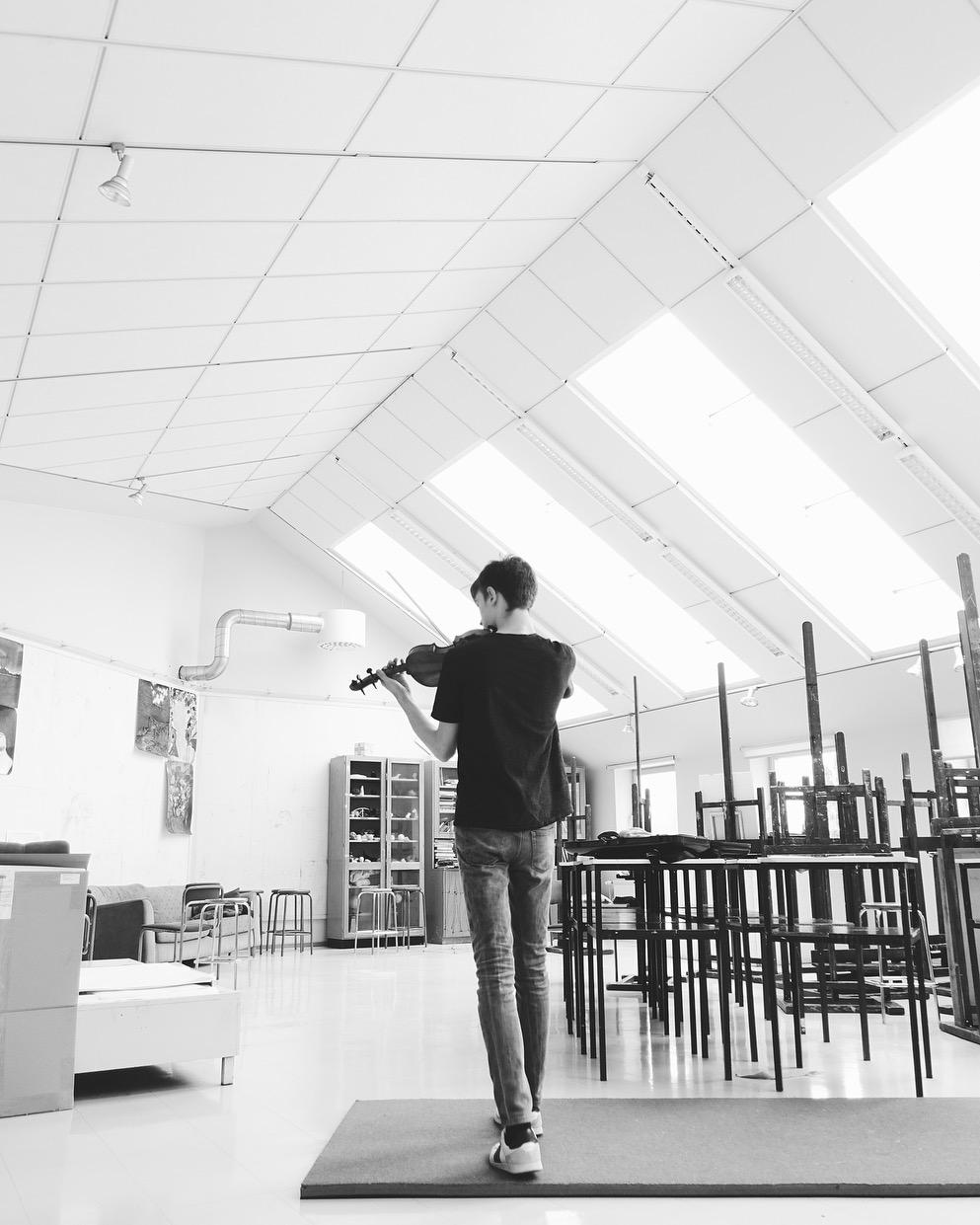 Top floor practice space in the Savonlinna Music School