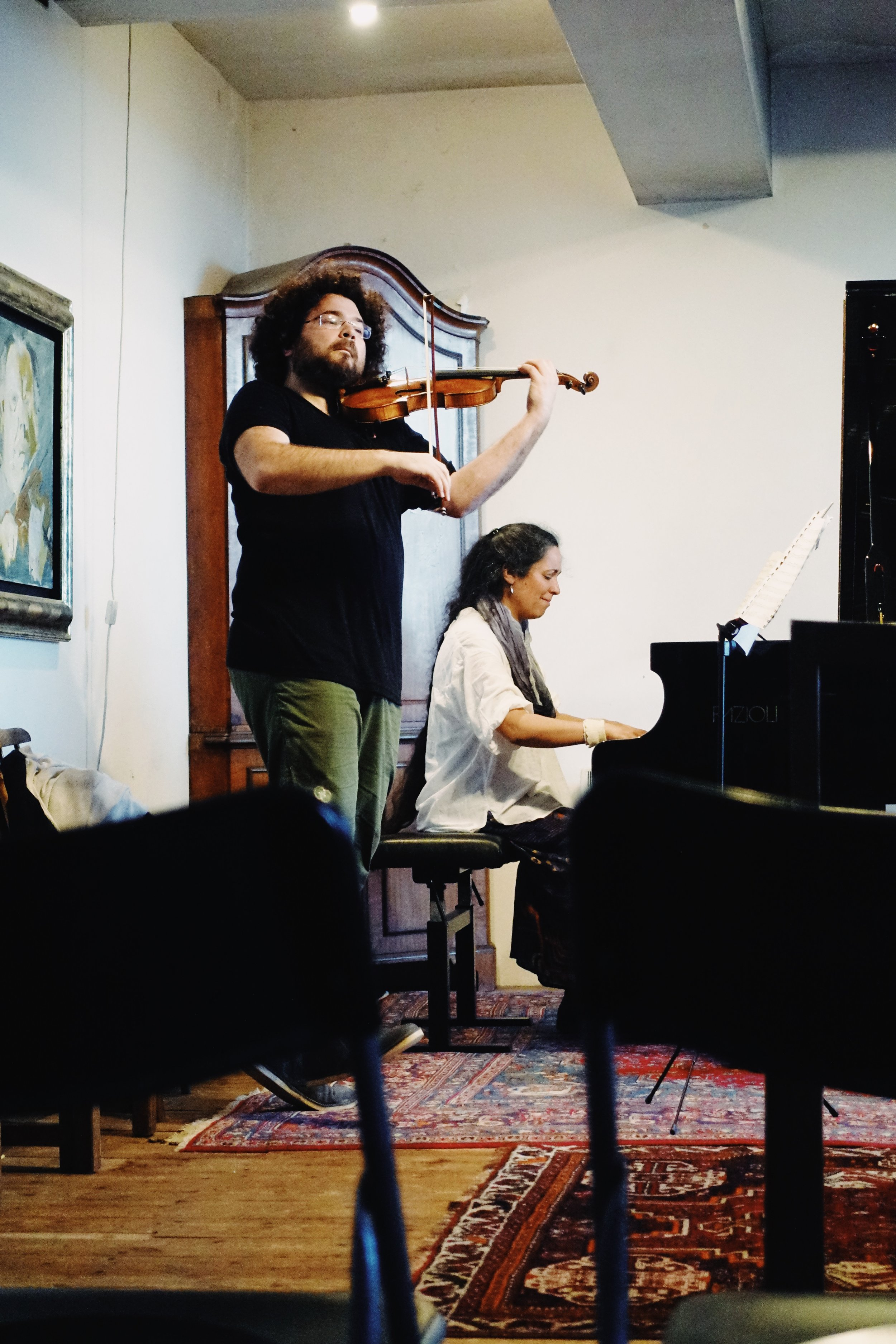 Jonian Kadesha, violin and Sophia Rahman, piano