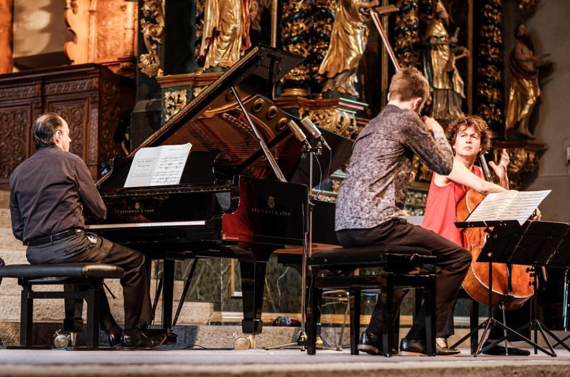 Paolo Giacometti (Piano), Tim Crawford (violin) and Xenia Jankovic (cello)