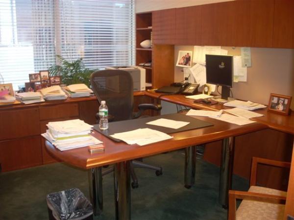 Steelcase Cherry Wood U-Shape office