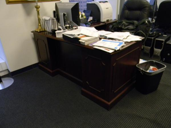 """66"""" X 30"""" traditional Hon desks with 48"""" returns."""