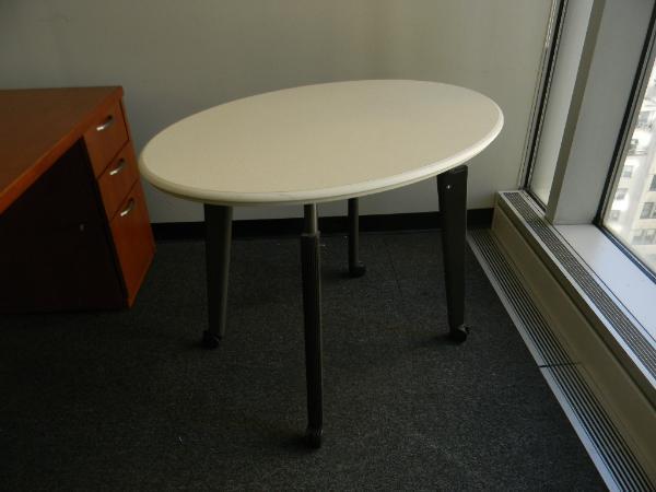 "2: 42"" x 30"" oval tables - Herman Miller"