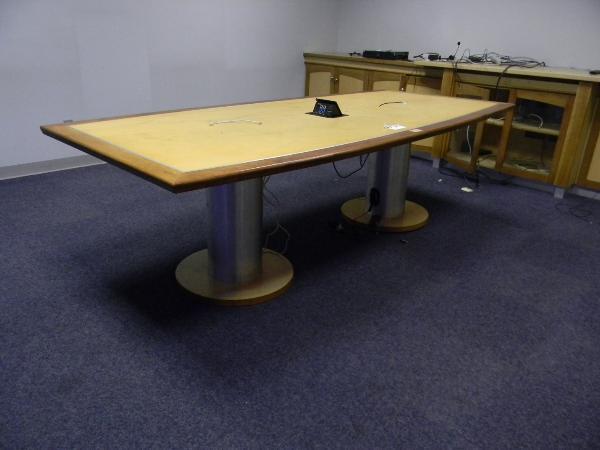 "1: 8'6"" x 48"" boat shape table"