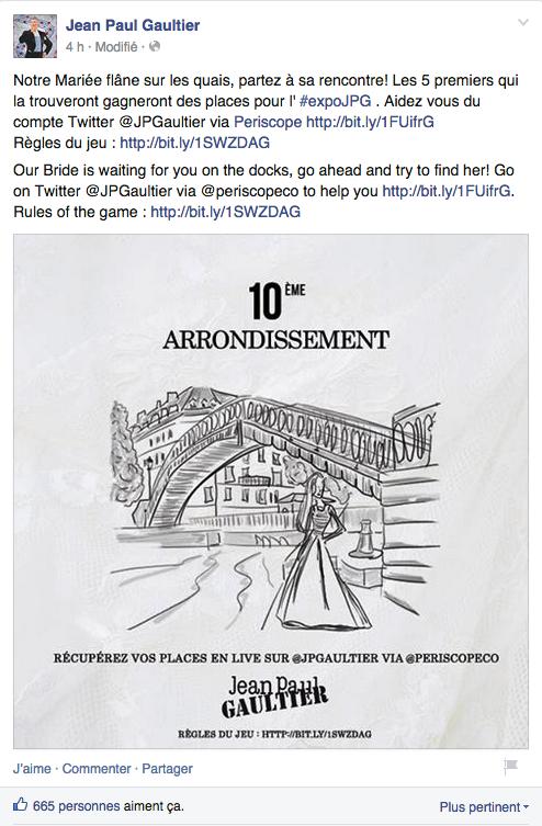 Indice n°1 dévoilé sur la page Facebook de la marque le 2 Juillet 2015