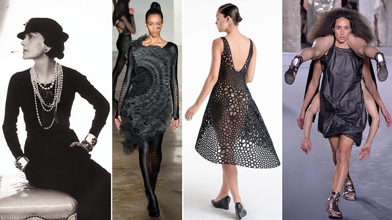 Crédit : MoMA. De gauche à droite : Gabrielle Chanel, Threeasfour, Nervous System, Rick Owens.