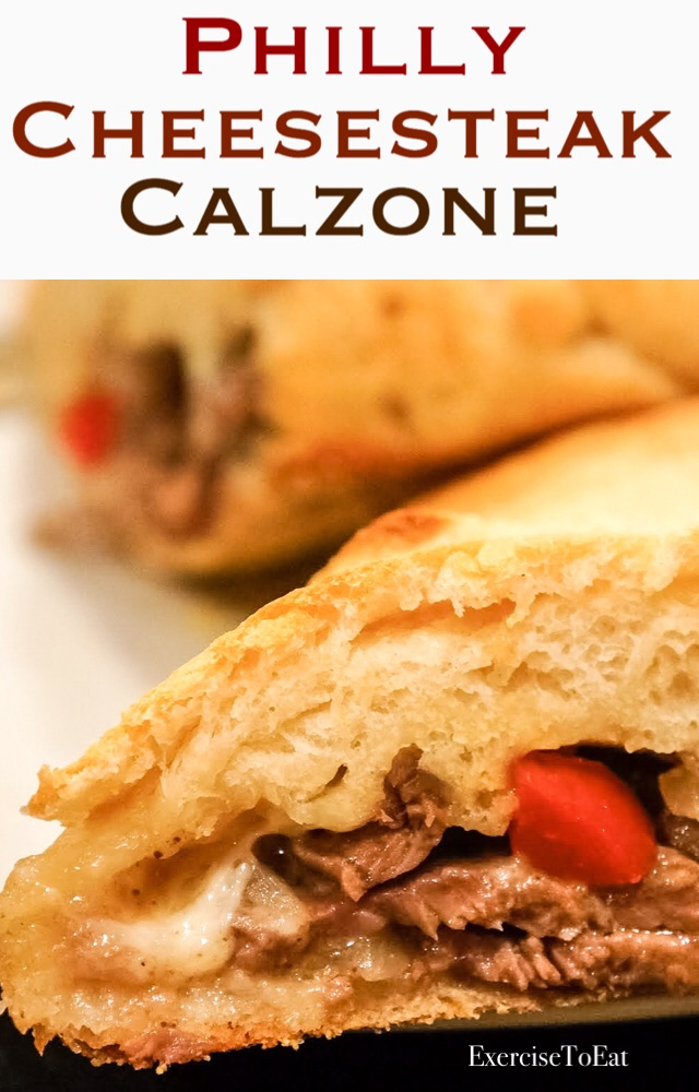 Philly Cheesesteak Calzone! Fun, easy and yummy in your tummy. Stay in and cook this up with family and friends!