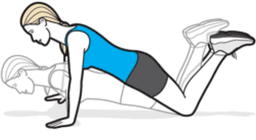 push ups from knees