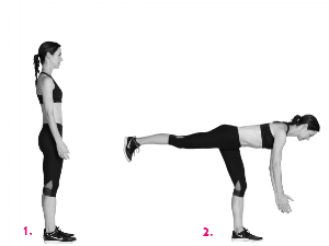 To add resistance, put a weight in the same hand as the leg that is moving back