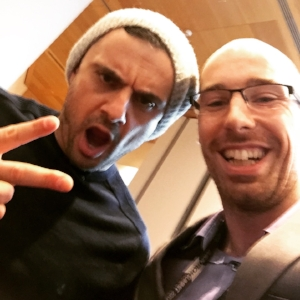 Meeting Gary Vee in Dublin, February 2017. Everyone asking about business advice, I bring up the one thing we can never agree on; his hatred for Jordans. Although I do get his reasoning.