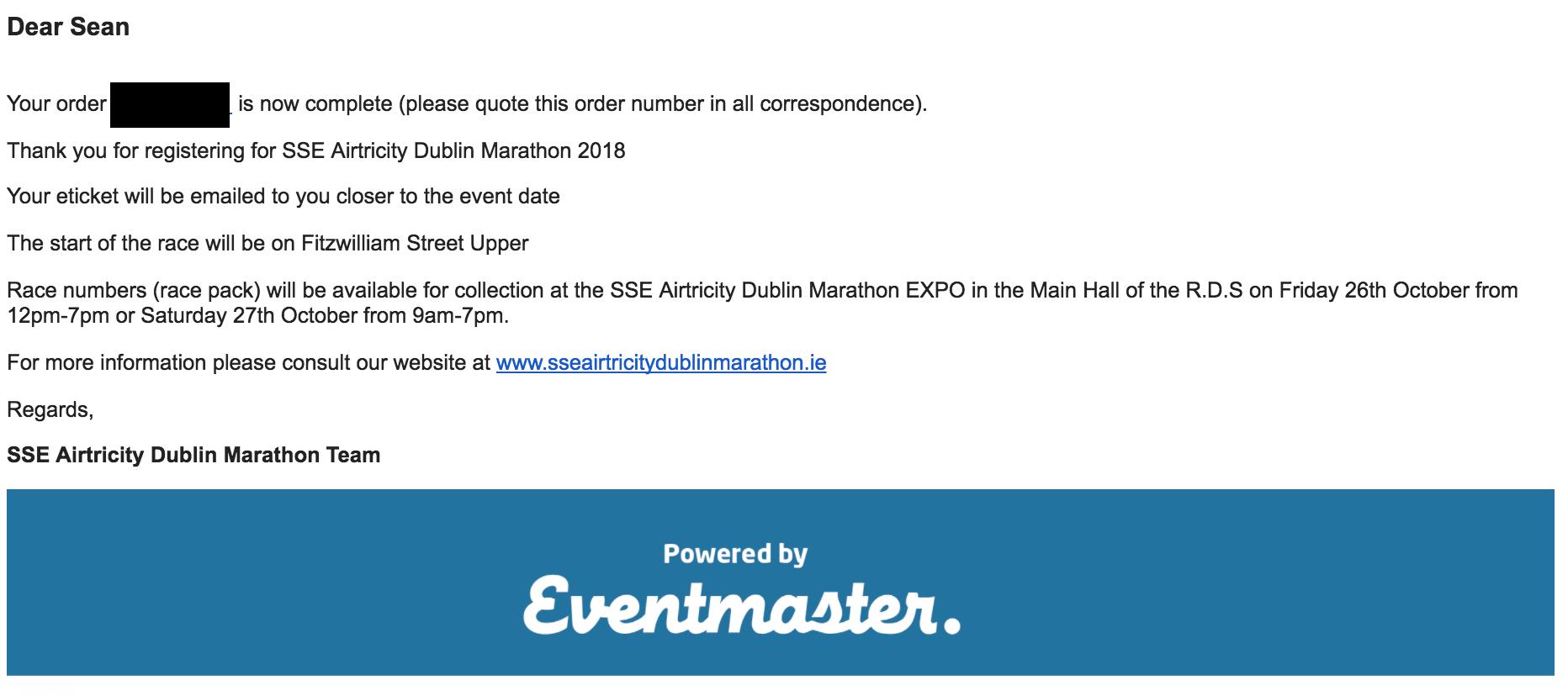 dublin city marathon 2018 entry form confirmed lets go
