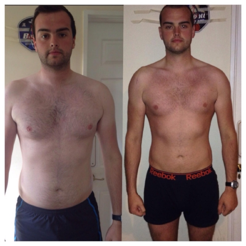Eric before and after the Challenge in 2015