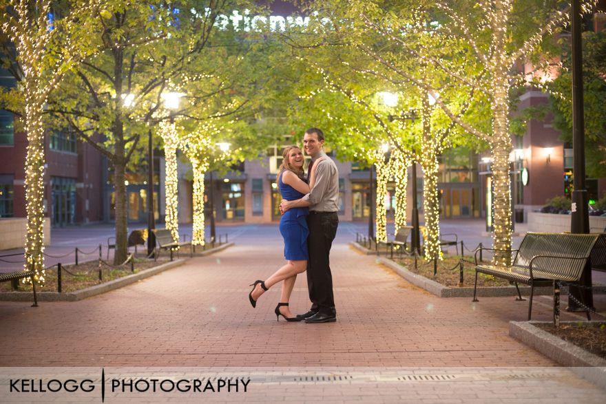 Night Engagement Session Columbus Ohio