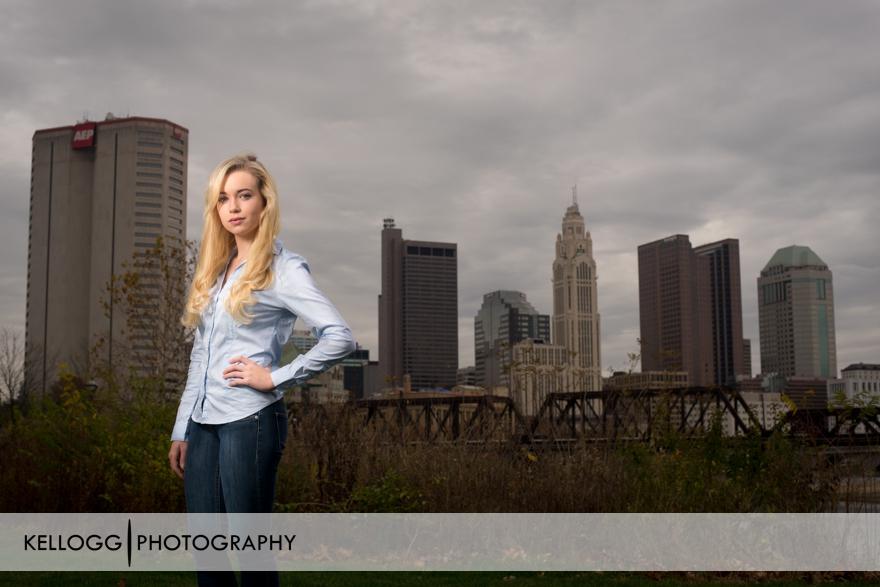 Columbus Ohio Skyline Senior Portraits