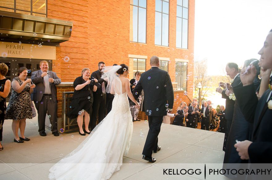 Wedding Exit with bubbles