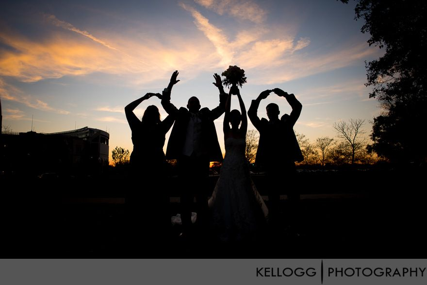 O-H-I-O with the stadium in the background