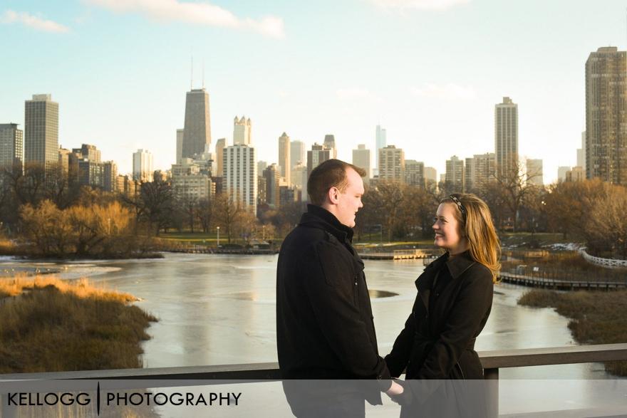Skyline Chicago Engagement