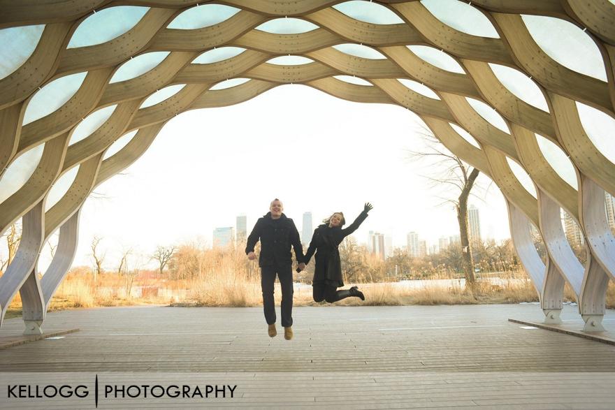 Chicago Honeycomb Engagement
