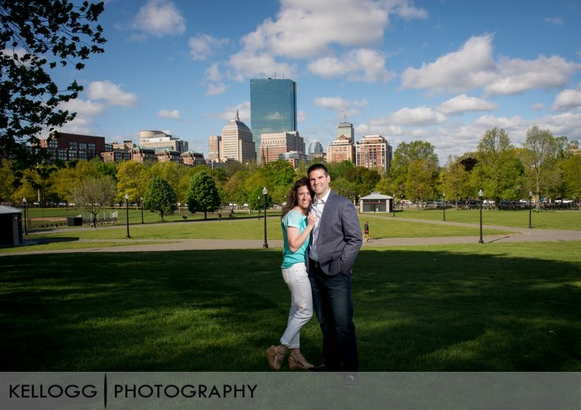 Boston Skyline Engagement