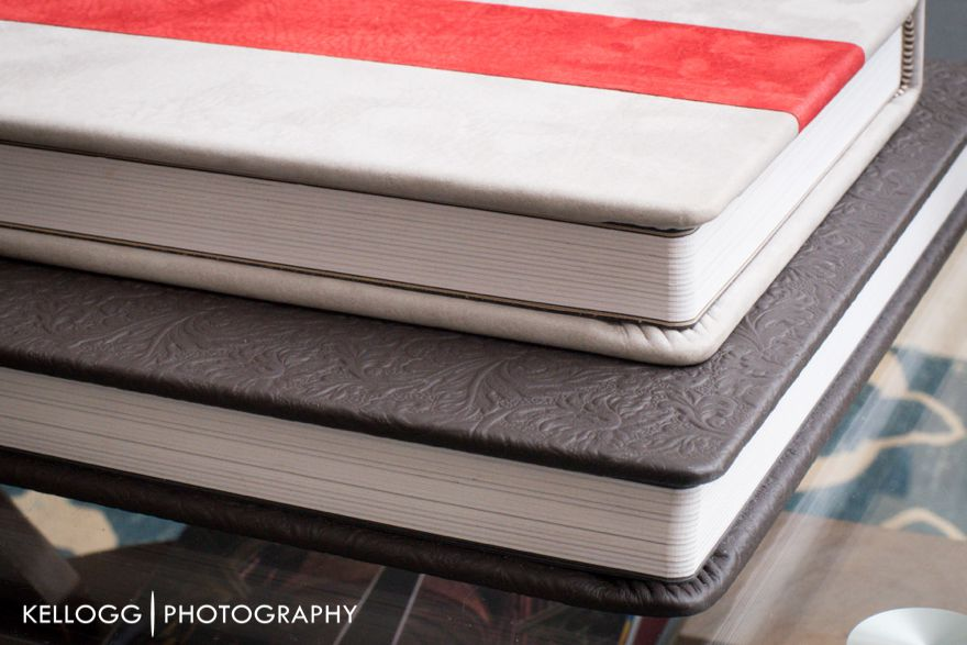 Two tone leather albums