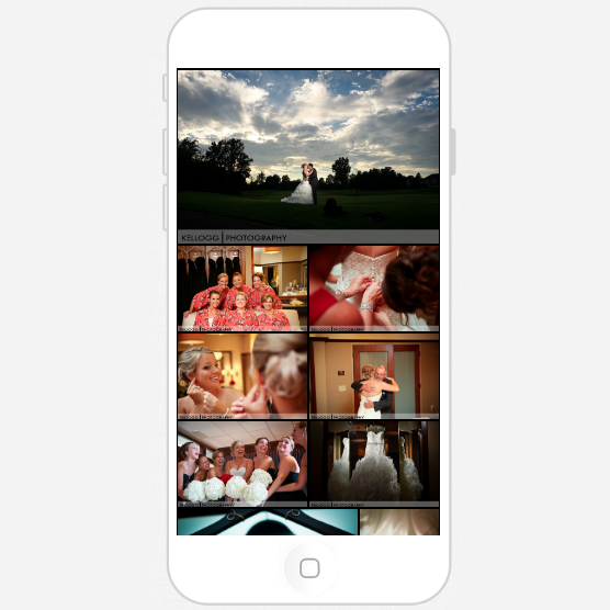 Personal smartphone app of your wedding photos in 48 hours after your wedding