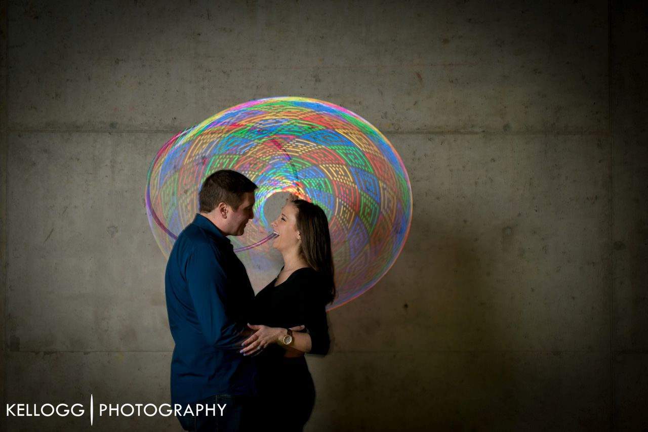 LED hoop Engagement Session