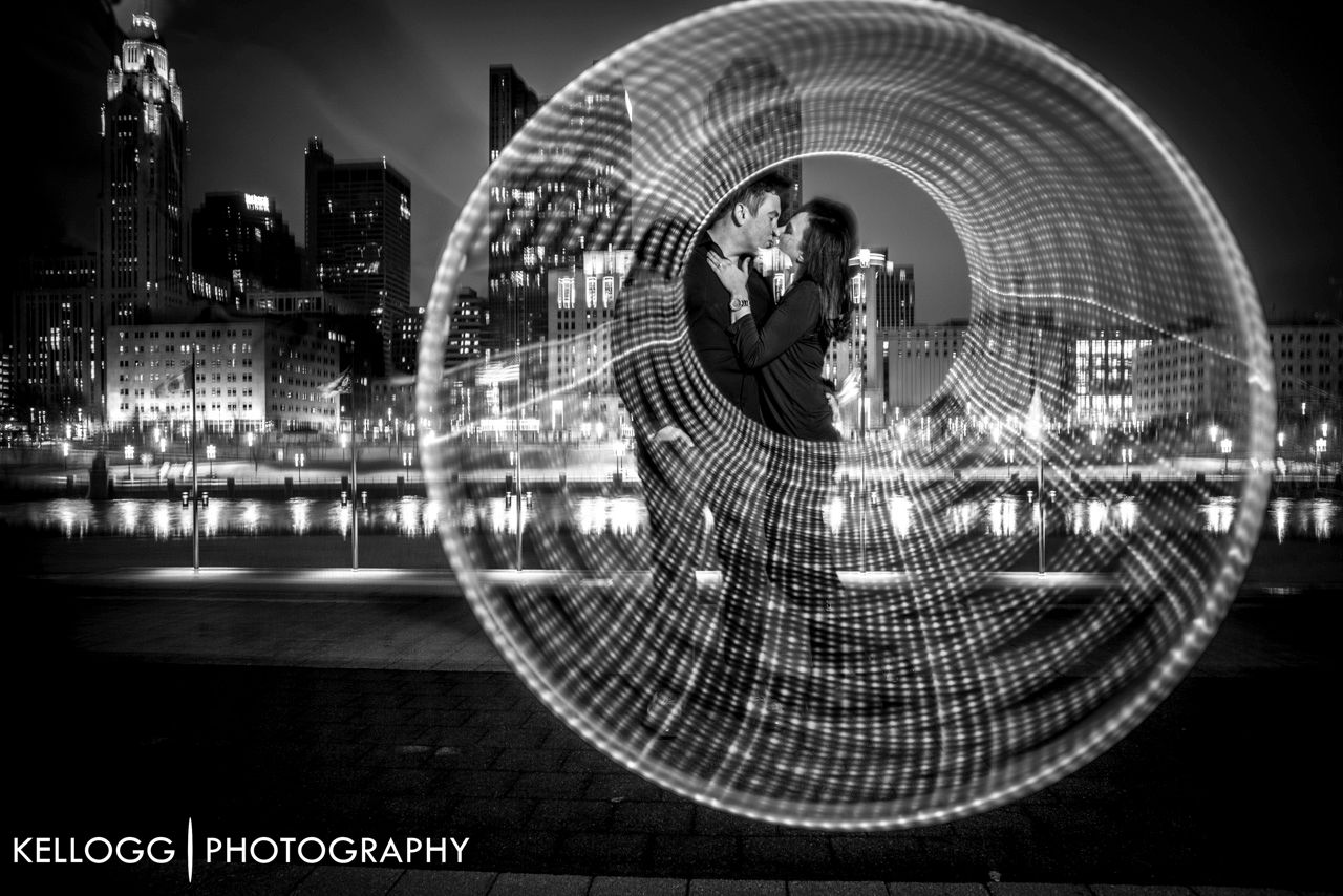 LED hoop Engagement Session Columbus Ohio