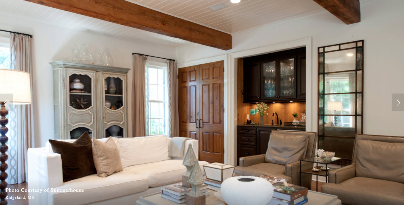 This space was designed by the one and only, Lisa Palmer from Summerhouse in Ridgeland, MS. Lisa is uberly talented, fun, and inspiring. Crown Hardware builtthe beautiful French iron rods over each window. www.summerhousestyle.com