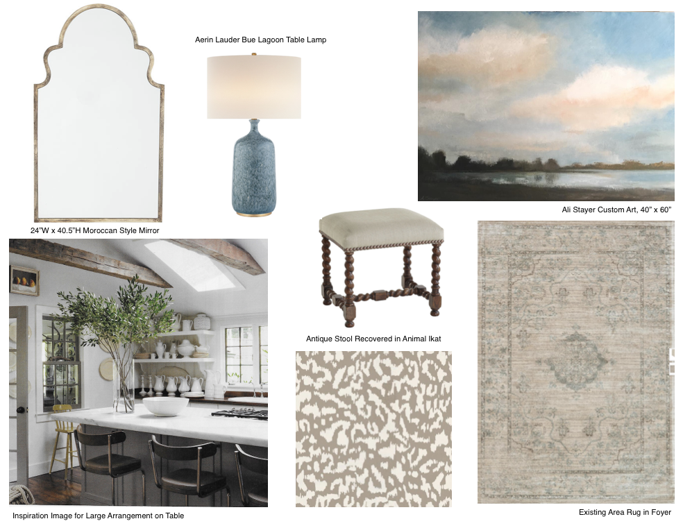 REEVES: FOYER CONCEPT BOARD