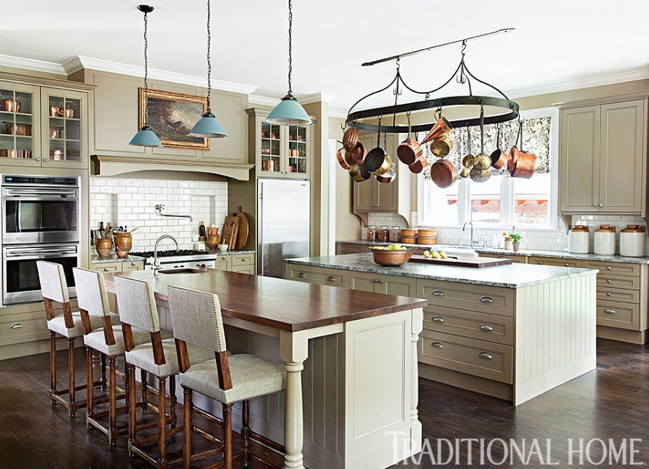 Jon Lester's Home featured in Traditional Home. Design by Barbara Westbrook. Photography: Erica Dines