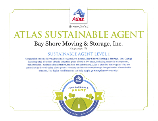 Atlas Sustainable Agent Certificate