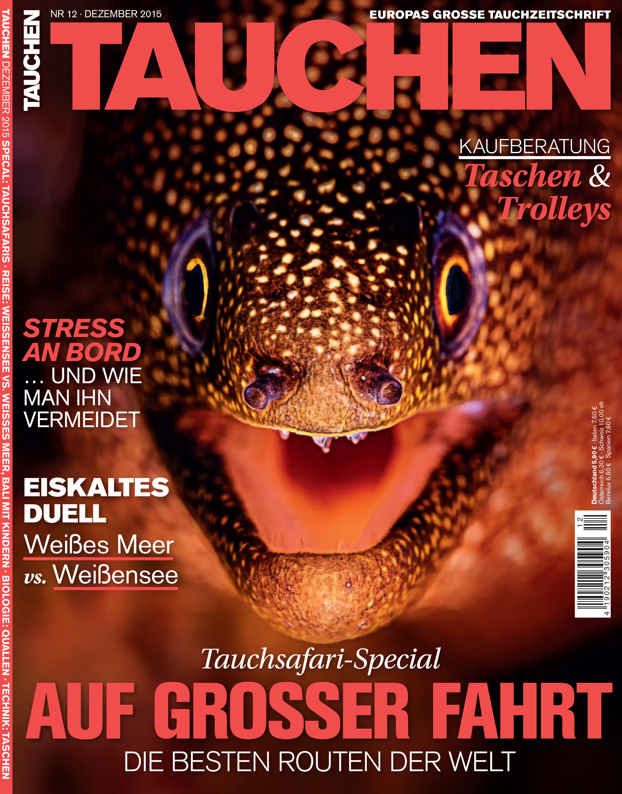 Beth Watson cover shot Tauchen Magazine