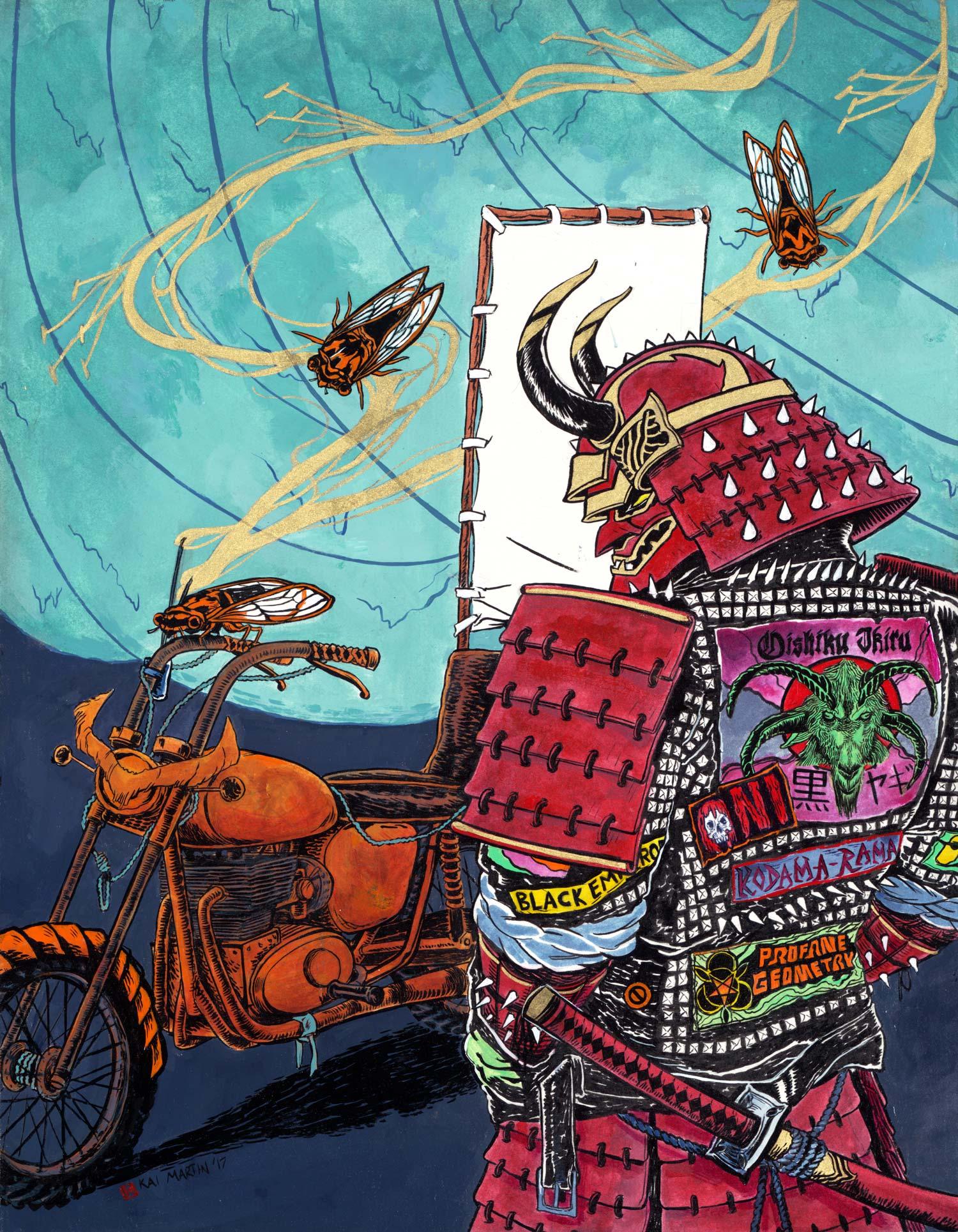 The Warlock  2017 - Ink & Acrylic on Birch Cradled Paper