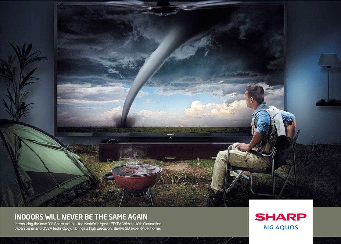 Sharp   Agency - Saatchi & Saatchi  Photographer - Graham Tooby