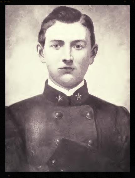 """Stonewall Jackson's """"Boy Major"""", Joseph W. Latimer, died at the Warren-Sipe House in 1863 from an infected wound suffered at the Battle of Gettysburg."""