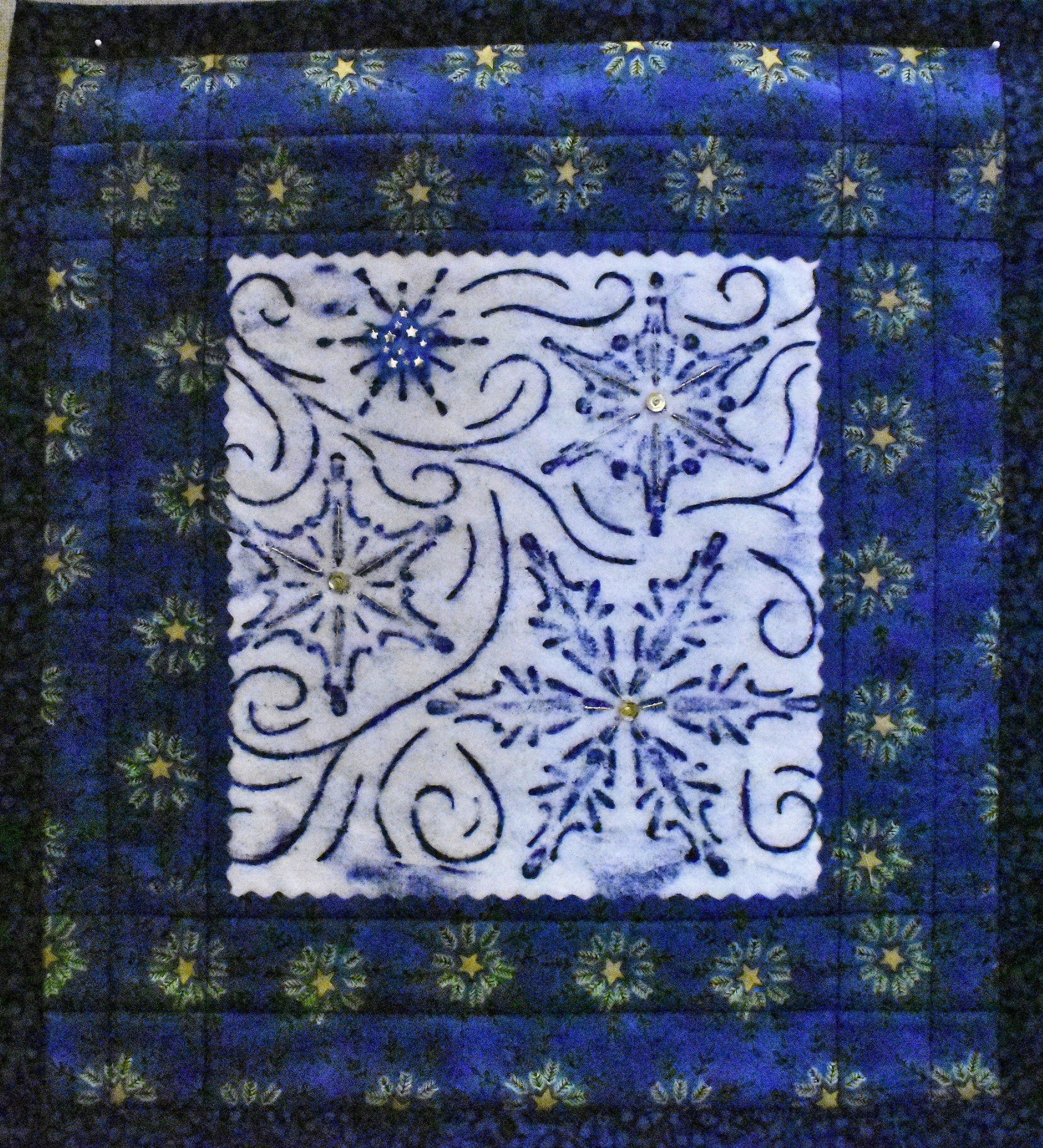 A Winter Wonderland Mini Quilt