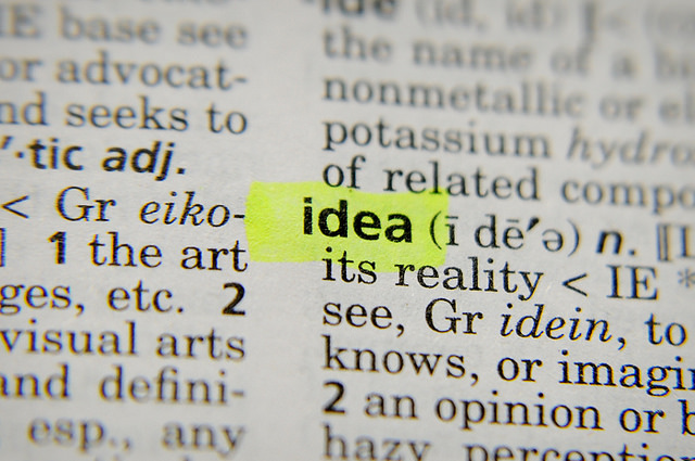 Idea, deconstructed. Photo by Uberof202 ff, licensed under Creative Commons